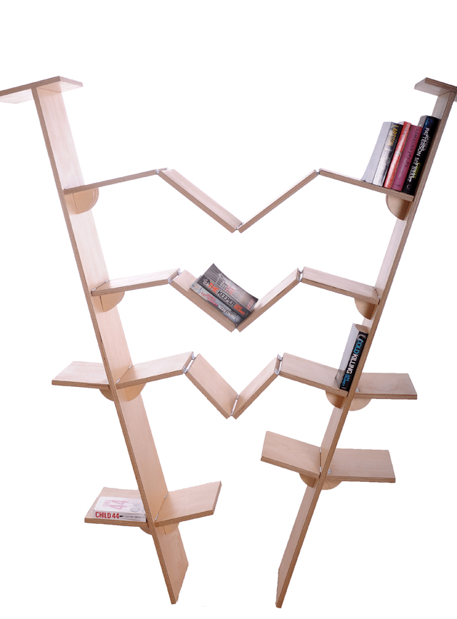 Adapting shelving system by Meyrelles & Martin